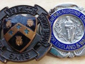 Guys Hospital Badge and Old nursing badge